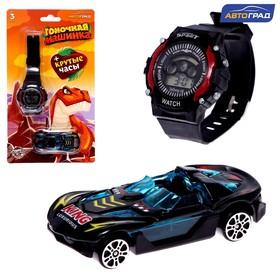Машинка с часами, динозавры, МИКС
