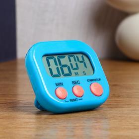 """Электронный кухонный таймер """"Антарес"""" на магните и подставке, 1 ААА, 7х2х6.5 см, микс"""