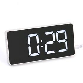Часы электронные, будильник, термометр, 7.5 х 15.5 см, от USB