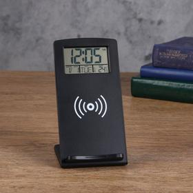 Часы электронные, с подставкой, 16 х 8 см, от USB