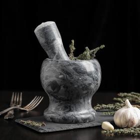 {{photo.Alt || photo.Description || 'Ступка с толкушкой «Мрамор», из натурального камня'}}