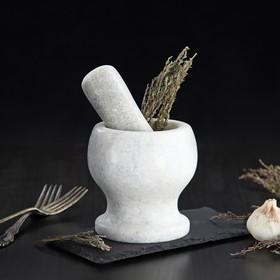 {{photo.Alt || photo.Description || 'Ступка с толкушкой «Мрамор», из натурального камня, цвет белый'}}