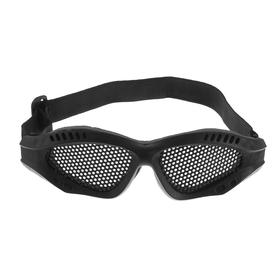 Glasses for riding motorcycles, a dirt-guard cover, reinforced, black