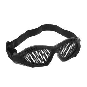 Очки для езды на мототехнике, грязезащита, армированные, цвет черный