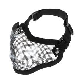 Очки-маска для езды на мототехнике, армированная, цвет черный