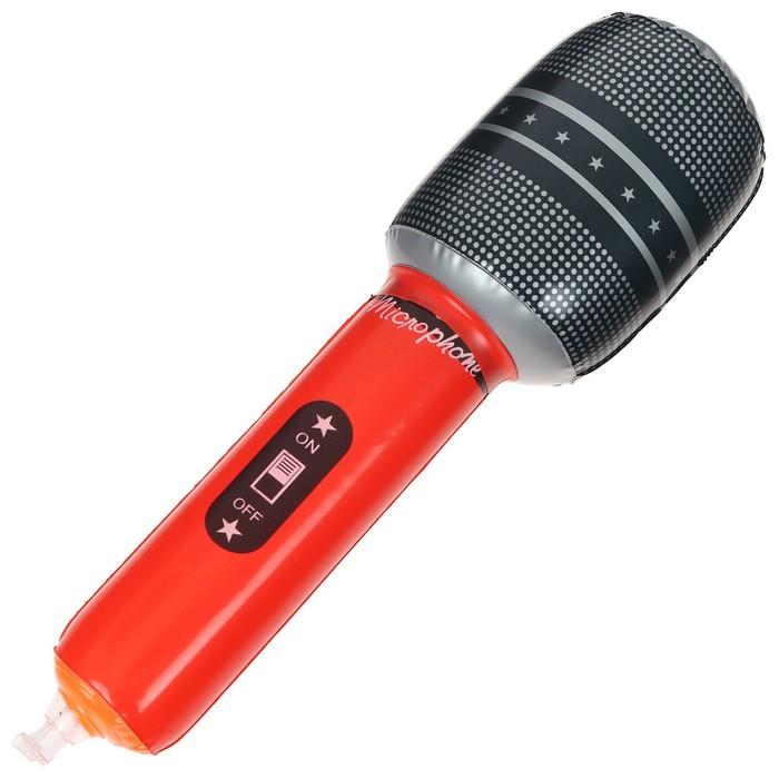 Игрушка надувная «Микрофон», 25 см, цвета МИКС