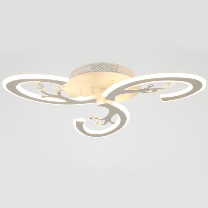 Люстра с ПДУ 71159/3 LED 108Вт диммер 3000-6000К белый 52х52х10 см - фото 775038