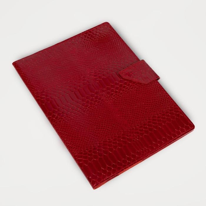 Папка для семейных документов на клапане, 4 комплекта, цвет красный - фото 775298