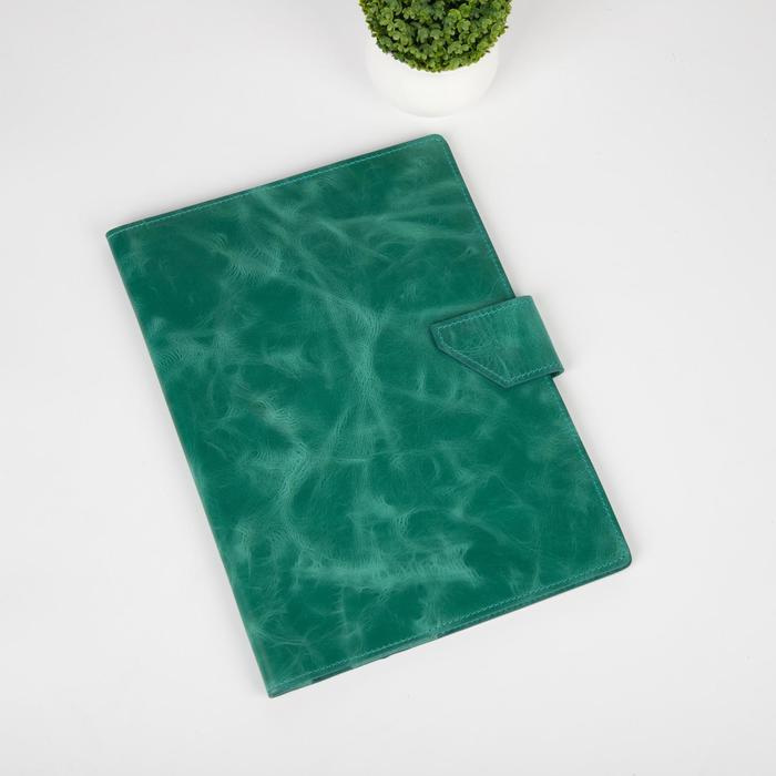 Папка для семейных документов на клапане, 4 комплекта, цвет зелёный - фото 775301
