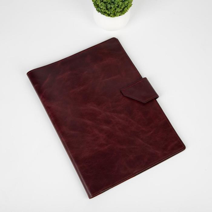 Папка для семейных документов на клапане, 3 комплекта, цвет бордовый - фото 1162192