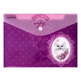 Папка-конверт на кнопке A5 (240 x 170 мм), 150 мкм, непрозрачная с рисунком, deVENTE Princess