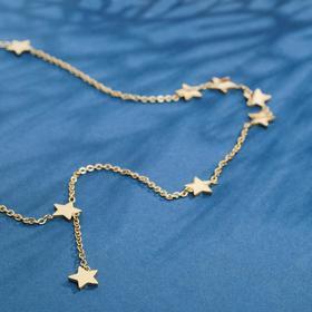 """Колье """"Звёзды"""" тёмная ночь, цвет золото, 45 см"""