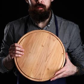 Доска для пиццы, d=31х1,5 см, массив ольхи