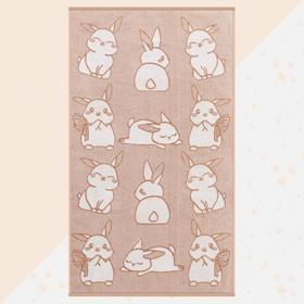 """Полотенце махровое """"Этель"""" Милые зайчата, 70х130 см, 100% хлопок, 420гр/м2"""