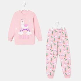 Пижама для девочки, цвет персик, рост 92 см