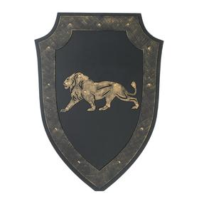 A souvenir on the wall a Shield a lion