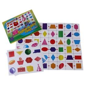 Настольная игра «Подбери по цвету и форме» + поле