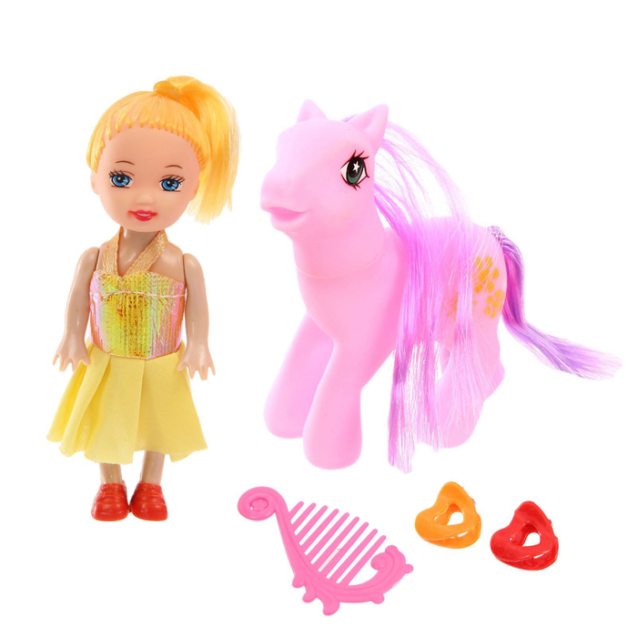 Кукла малышка с пони и аксессуарами, МИКС