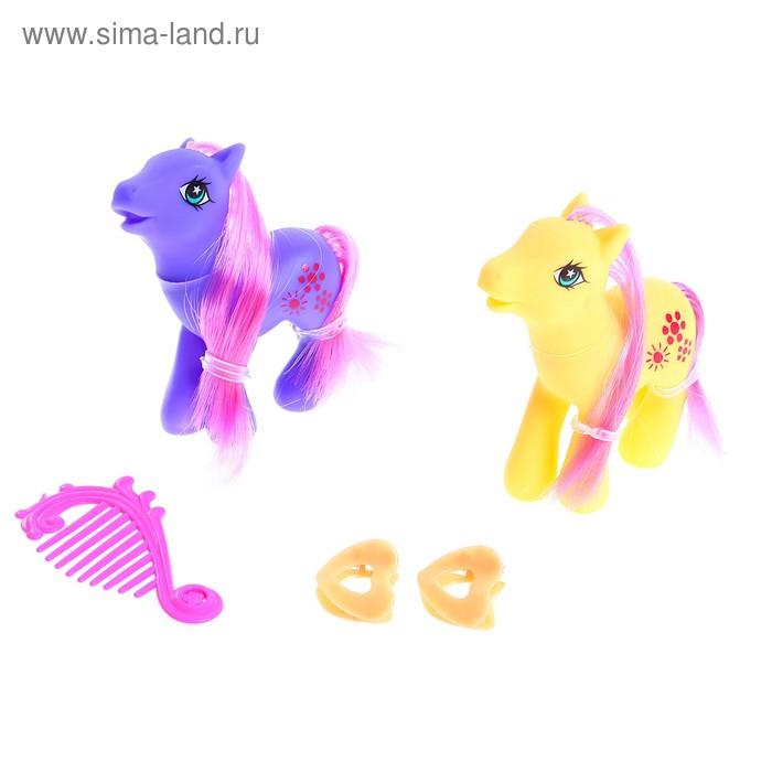 "Набор пони ""Близняшки"", с аксессуарами, 2 штуки"