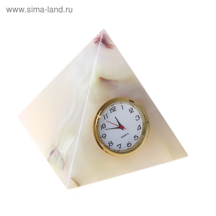 "Часы Пирамида 3"" 9х7,5х7,5 см оникс"