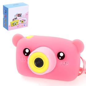 """Детский фотоаппарат """"Мишка"""", цвет розовый"""