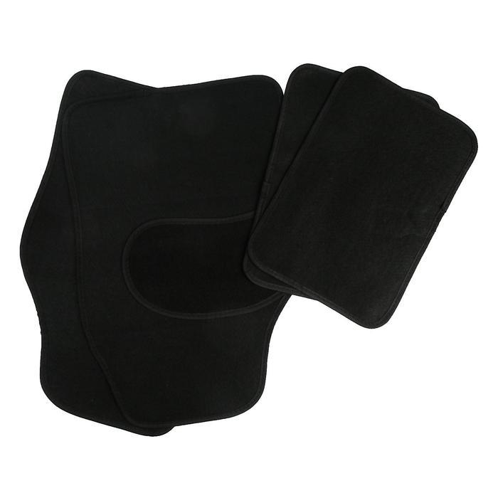 """Набор ковриков для авто """"Следы"""". 4 шт, 62х42 см и 43х30 см, черный"""