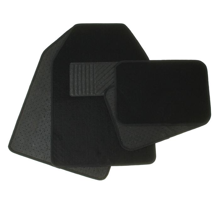 Набор ковриков для авто. 4 шт, 64,5х44,5 см и 43х30 см, черный
