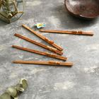"""Chinese chopsticks """"Meal"""" 5 pairs 24x9x2 cm coconut"""