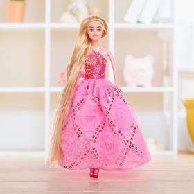 Кукла модель «Анна» с длинными волосами, МИКС