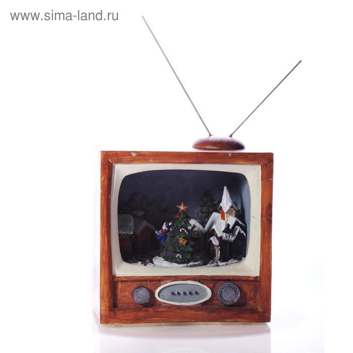 """Сувенир """"Новогодняя передача"""" музыкальный, световой, крутящийся"""
