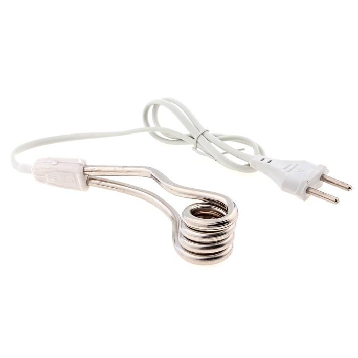 Электрокипятильник LuazON LEK 01, 500 Вт, спираль кольцо, 11х3 см, 220 В, белый