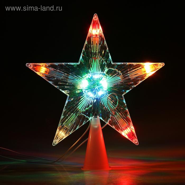 """Фигура """"Звезда белая ёлочная"""" 16х16 см, , 10 ламп, 240V МУЛЬТИ"""