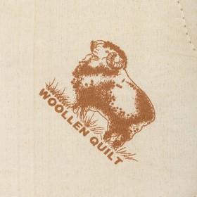 """Одеяло всесезонное Адамас """"Овечья шерсть"""", размер 140х205 ± 5 см, 300гр/м2, чехол п/э - фото 62620"""