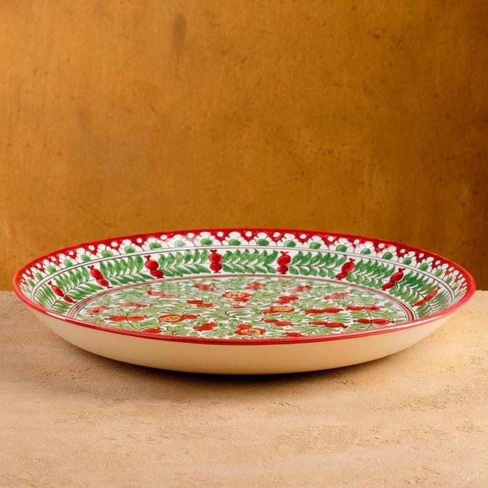 Ляган круглый Риштанская керамика 37см - фото 608046