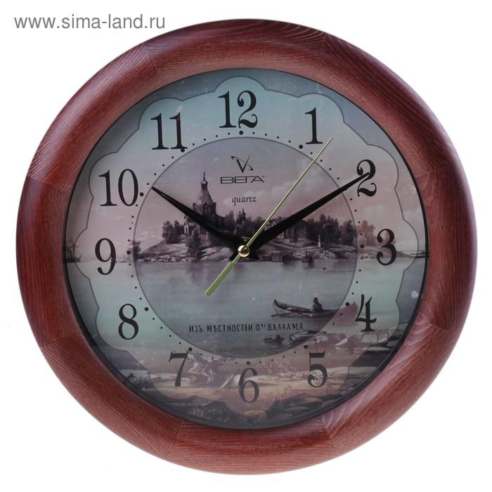 """Часы настенные круглые """"Валаам"""", деревянные"""