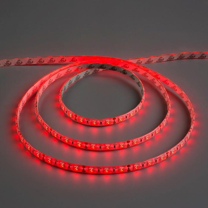 Светодиодная лента 12В, SMD5050, 5 м, IP65, 60 LED, 14.4 Вт/м, DC, КРАСНЫЙ