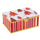 """Коробка подарочная с золотой лентой """"С Новым годом"""""""