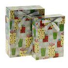 """Набор коробок 2в1 """"Подарки и снежинки"""""""