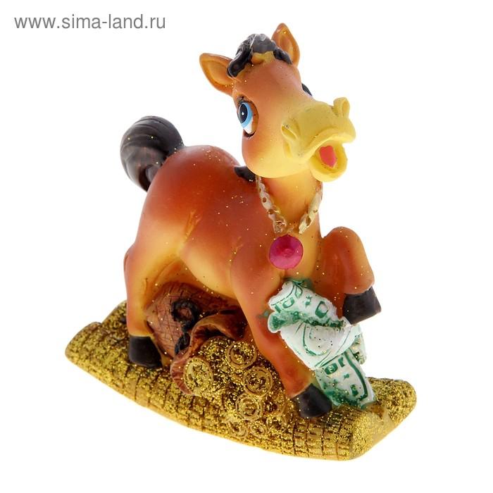 Полистоун лошадка-качелька 10*8*5,5 см