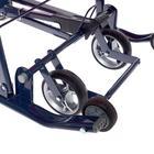 Санки-коляска «Ника детям 7-4», цвет вишнёвый в клетку - фото 106142989