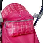 Санки-коляска «Ника детям 7-4», цвет вишнёвый в клетку - фото 106142990