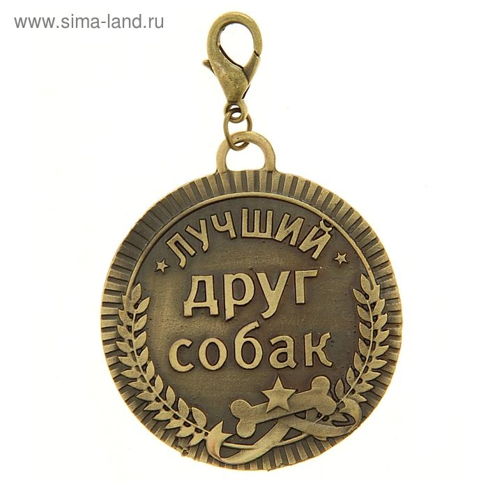 """Медаль для хозяина на подставкее """"Лучший друг собак"""""""