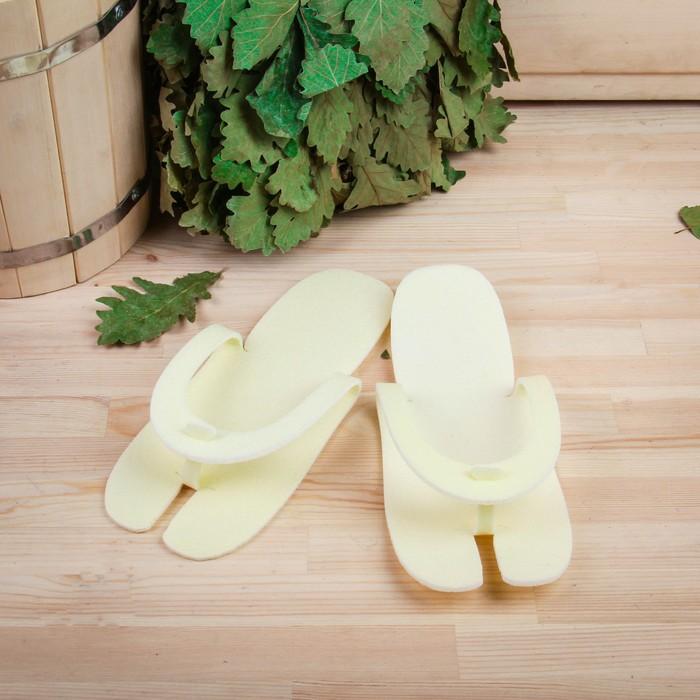 Тапки-трансформеры для бани и сауны, размер универсальный, микс