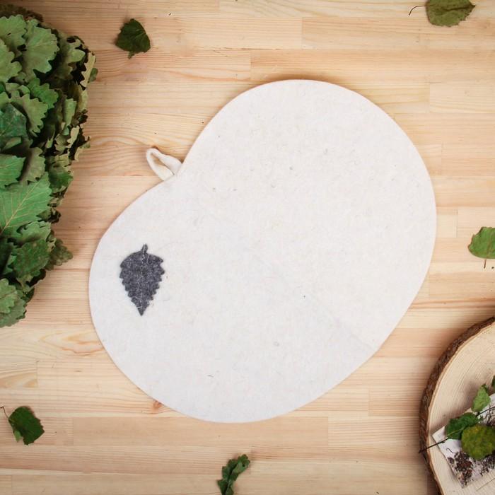 Коврик для бани и сауны «Классический», белый, 46 × 26 см