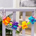 Растяжка на коляску/кроватку «Мишутки», 4 игрушки, цвет МИКС - фото 106530883