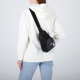 Сумка-рюкзак «Единорог», 15х10х26 см, отд на молнии, н/карман, регул ремень, чёрный