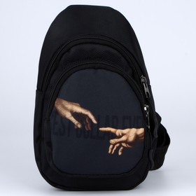 Сумка-рюкзак «Руки», 15х10х26 см, отд на молнии, н/карман, регул ремень, чёрный