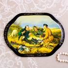 Панно «Сюжет», 16×22 см, лаковая миниатюра, микс