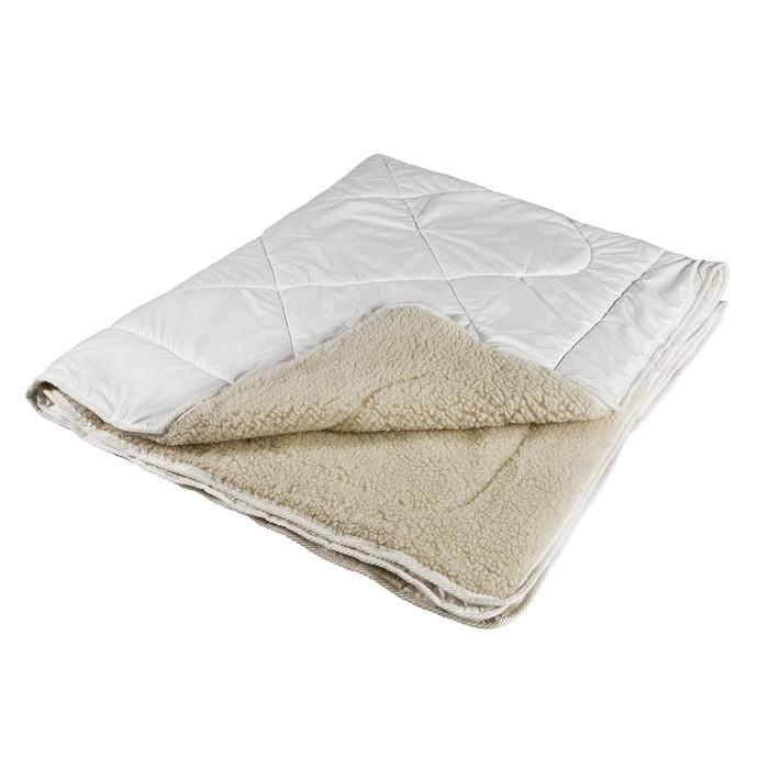 Одеяло Миродель Меринос теплое, шерсть мериносовой овцы, 145*205 ± 5 см, поликоттон, 250 г/м2 - фото 105554978
