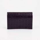 Обложка для паспорта, кайман, цвет фиолетовый